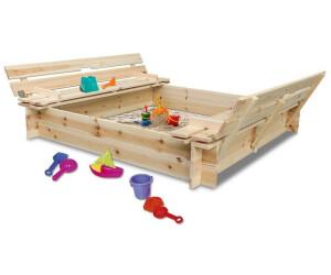 Coemo Sandkasten mit 2 Sitzbänken