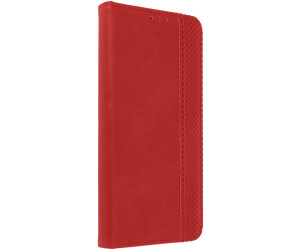 Avizar Retrohülle Geldbörse für Oukitel C21 - Rot