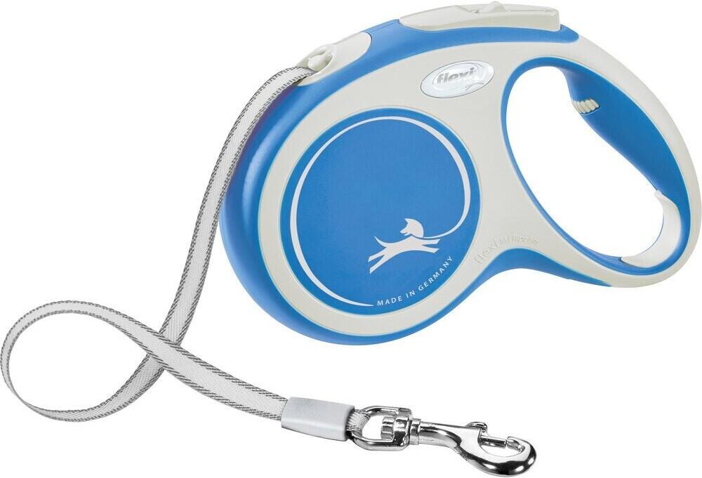 Flexi New Comfort Gurt M 5m blau/weiß