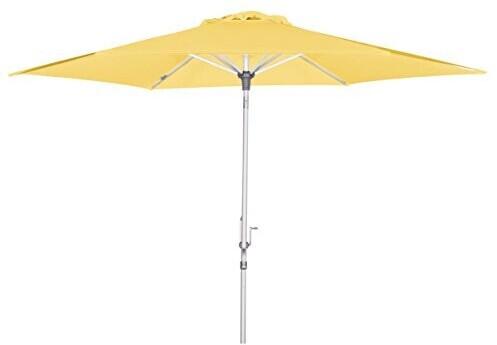 BrellaCo Sonnenschirm Kurbel, 305 cm 6-tlg. gelb