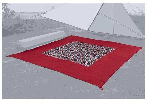 BENT Zip Carpet Teppich, 250x250cm, rot