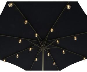 zeitzone LED-Sonnenschirmlichterkette 20er warmweiß (EF24702)