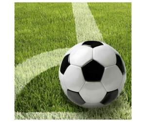 Papstar Fußball Servietten, 3-lagig 1/4-Falz 33 x 33 cm Football (81628)