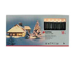 Rotpfeil Weihnachtsbeleuchtung.Rotpfeil Lichterkette Klar 15 Tlg Sockel Grün Ab 38 64