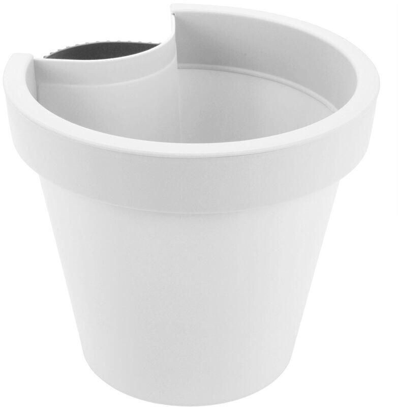 Spetebo Blumentopf für Regenrohr weiß (22102)