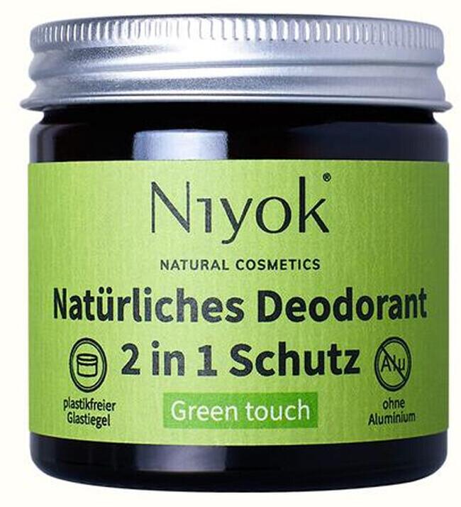 Niyok Natürliches Deodorant 2-in-1 Green touch (40 ml)