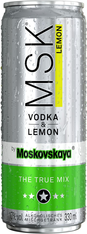 Moskovskaya MSK Vodka & Lemon 0,33l 10%