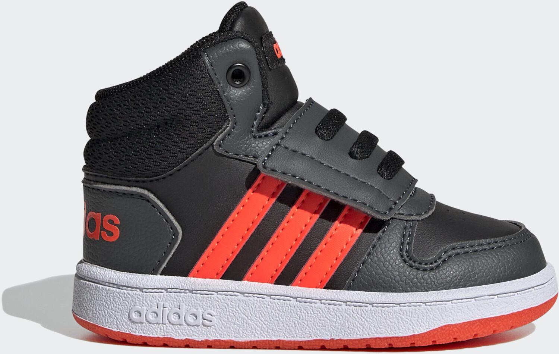 Image of Adidas Hoops 2.0 Mid Kids Core Black/Solar Red/Grey Six (GZ7780)Offerta a tempo limitato - Affrettati
