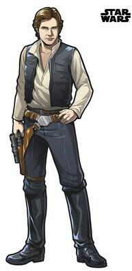 Komar Wandtattoo Star Wars XXL Han Solo 127x196 cm