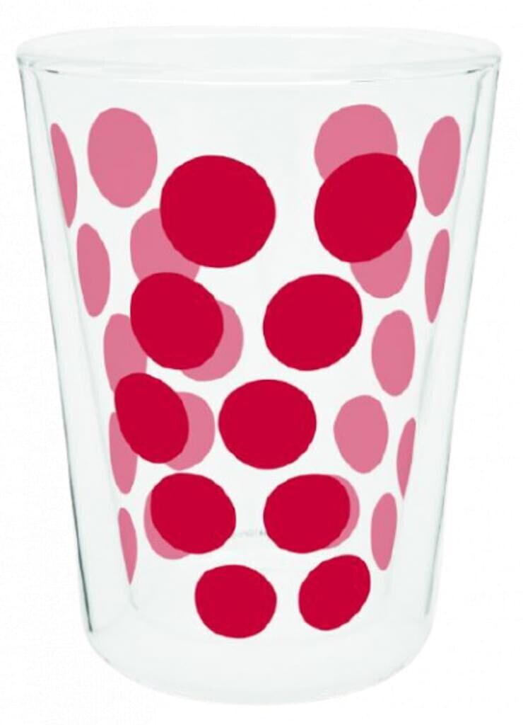 Zak Teeglas Dot Dot doppelwandig 350 ml Glas rot