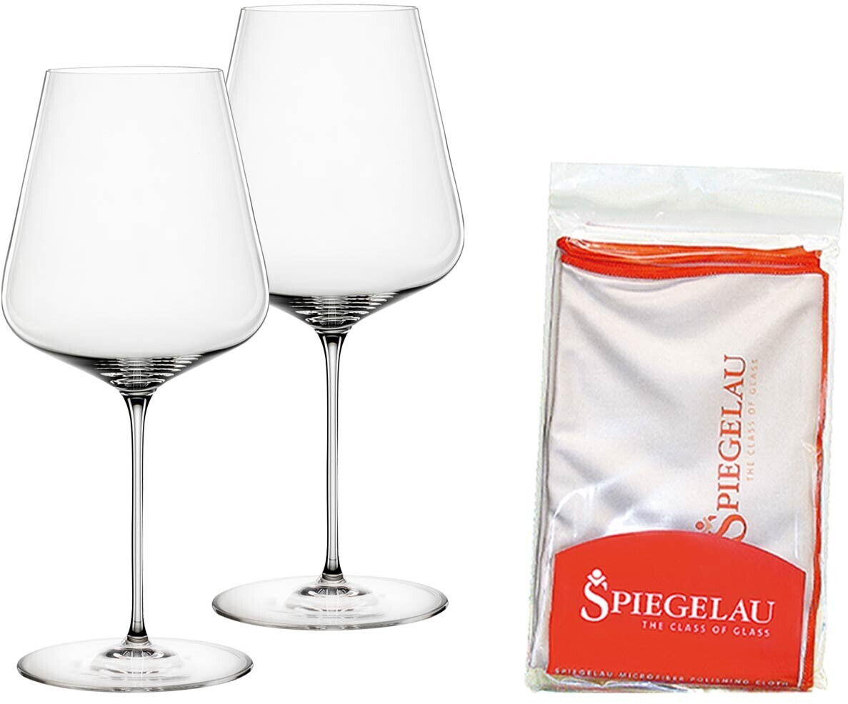 Spiegelau Bordeauxglas 2er Set mit Poliertuch