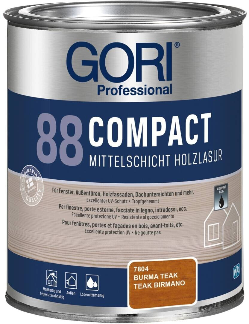 Gori 88 Compact Mittelschicht-Holzlasur burma teak 0,75l
