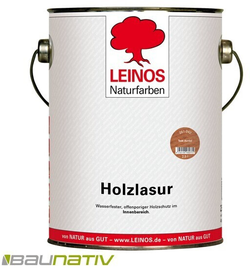 Leinos Holzlasur 261 Teak dunkel 2,5 l