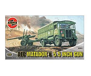 Image of Airfix AEC Matador & 5.5 Gun (01314)