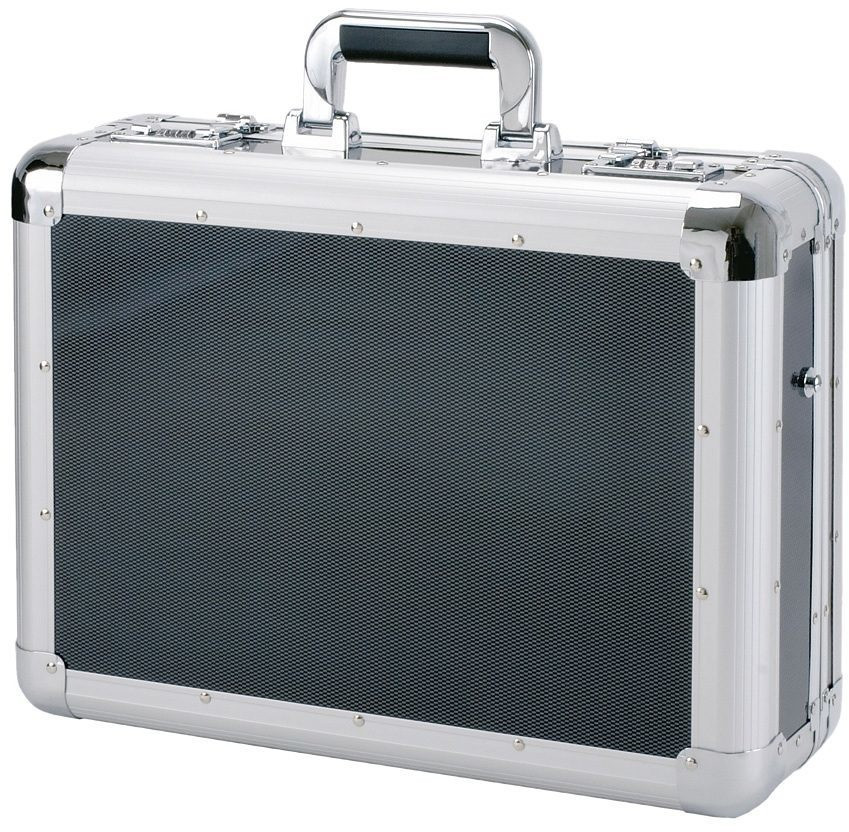 Alumaxx Laptop-Attaché-Koffer Carbon silber/carbon