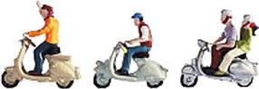 Vorschaubild von Noch Motorrollerfahrer mit Motorrollern (15910)