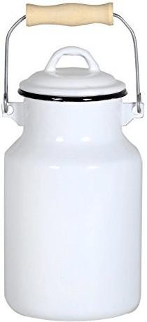 Krüger Milchkanne Emaille 2 l weiß