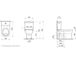 laufen pro stand wc kombination 824959 ab 158 27 preisvergleich bei. Black Bedroom Furniture Sets. Home Design Ideas