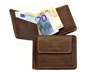Branco Leder Dollarclip Herren Geldbeutel Clip Geldbörse schwarz braun cognac