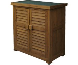 Leco Gartenschrank Aufbewahrung Holz Garten Schrank Möbel Geräteschrank honig