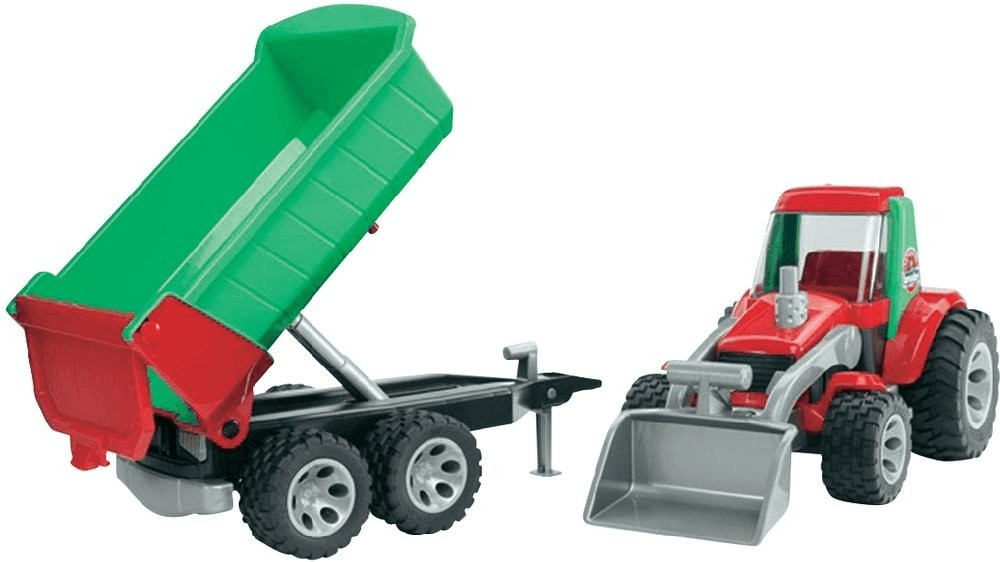 Bruder ROADMAX Traktor mit Frontlader und Kippanhänger (20116)
