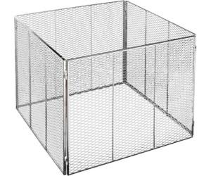 Garten Metall-Komposter Streckmetall  80 X 80 X 70 cm Brista verzinkt