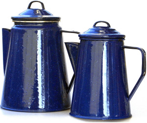 Relags kaffekanne Emaille mit Perlator 1,8 Liter blau wie bei Bonanza NEU