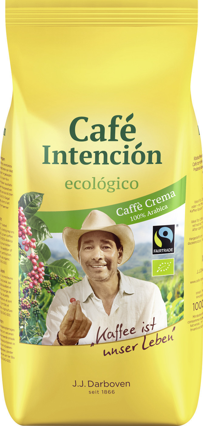 J.J. Darboven Café Intención ecológico Bio Caffè Crema Bohnen (1kg)