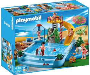Bon Playmobil Piscine Avec Toboggan (4858) Idees Etonnantes