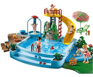 Playmobil piscine avec toboggan 4858 au meilleur prix for Prix piscine playmobil