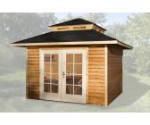 weka 144 gr 2 mit dachaufsatz 298 x 298 cm ab. Black Bedroom Furniture Sets. Home Design Ideas