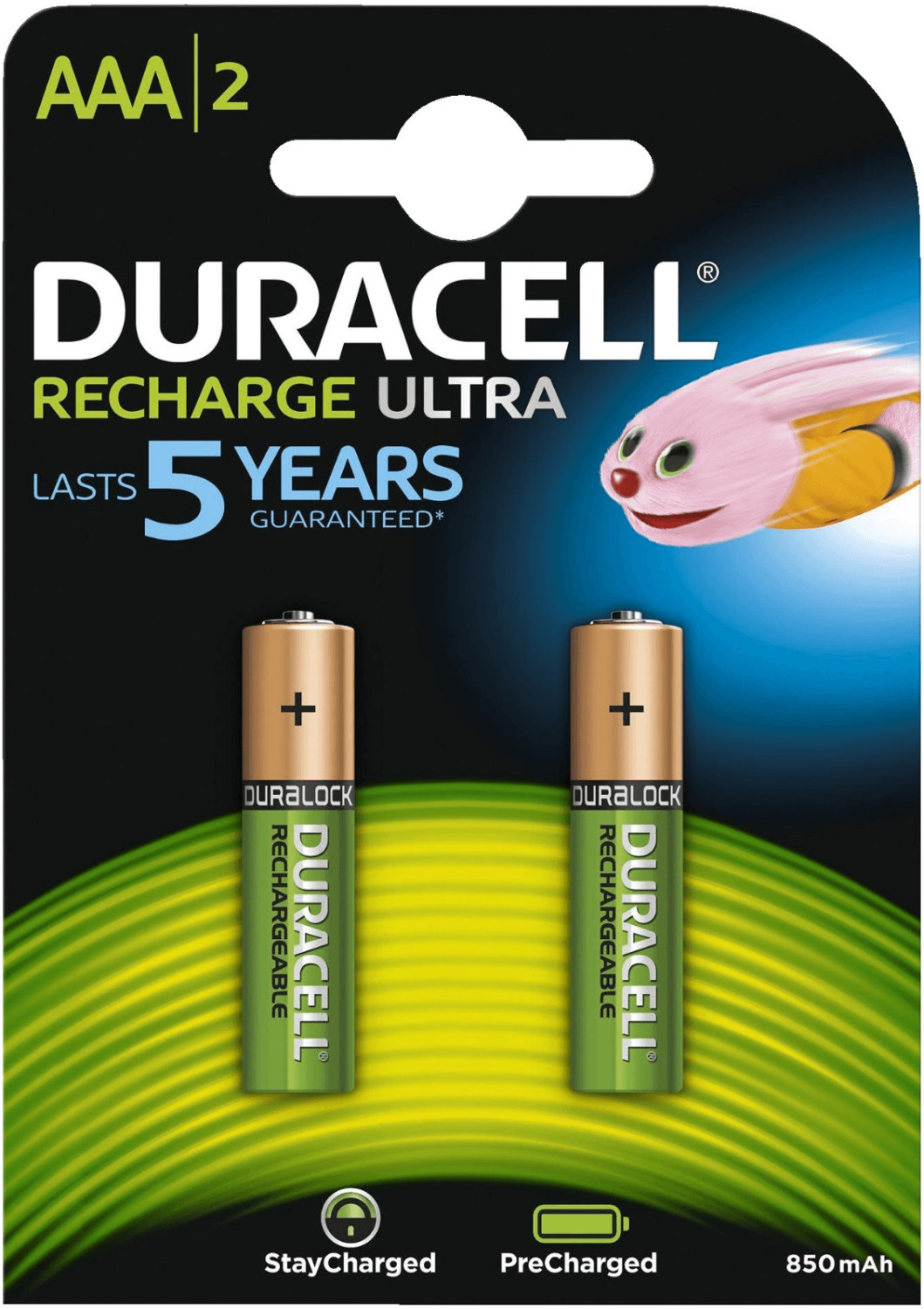 Image of Duracell 2x AAA StayCharged 800mAh / HR03-A