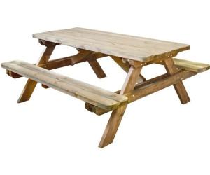 jardipolys table de pique nique 180 cm au meilleur prix sur. Black Bedroom Furniture Sets. Home Design Ideas