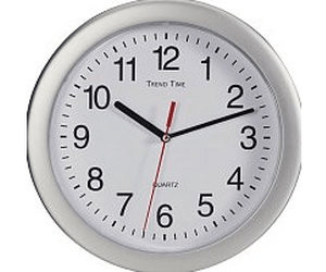 Conrad Quartz Wall Clock Silver