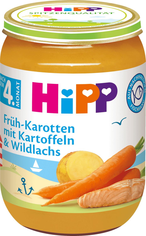 Hipp Früh-Karotten mit Kartoffeln und Wildlachs...