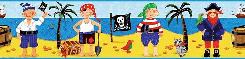 RoomMates Piraten Ahoi Bordüre