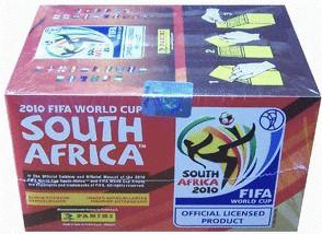 Panini FIFA WM 2010 Sticker - 100 Booster Display