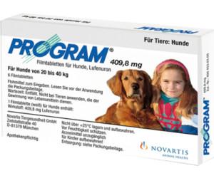 novartis program 409 8 mg tabletten f r hunde von 20 bis 40 kg 6 st ck ab 42 70. Black Bedroom Furniture Sets. Home Design Ideas
