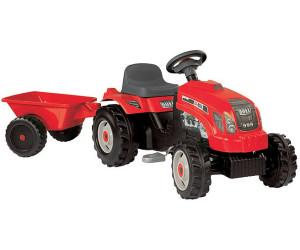 smoby gm tracteur remorque rouge 33045 au meilleur prix sur idealofr