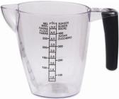 MESSBECHER Messkanne Messbehälter Messgefäß Küche 0,5 L PLAST TEAM