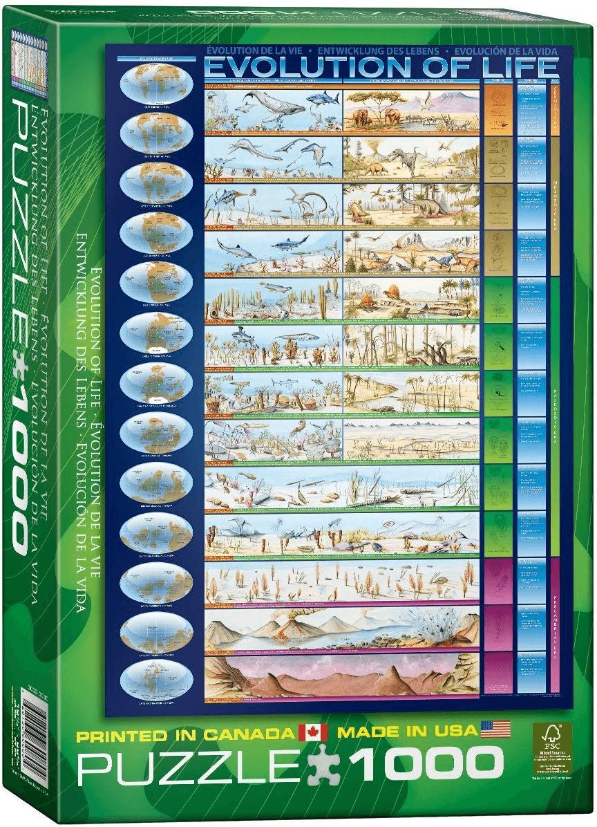 Eurographics Puzzles Evolution des Lebens (1.000 Teile)