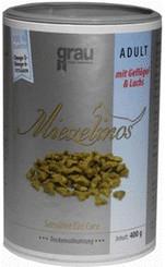 Grau Miezelinos Adult mit Geflügel und Lachs (4...