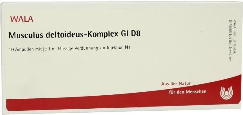 Wala-Heilmittel Musculus Deltoideus Komp. Gl D 8 Ampullen (10 x 1 ml)