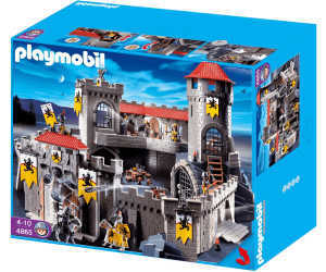 playmobil ch teau fort des chevaliers du lion 4865 au meilleur prix sur. Black Bedroom Furniture Sets. Home Design Ideas