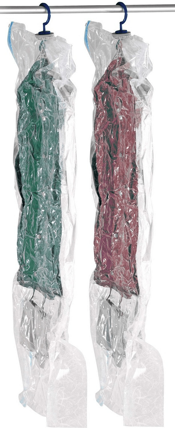 Wenko Vakuum Kleidersack Set L & XL, 2-teilig