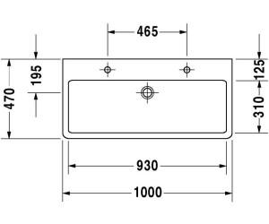duravit vero geschliffen 100 x 47 cm ab 365 60 preisvergleich bei. Black Bedroom Furniture Sets. Home Design Ideas