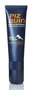 Piz Buin Mountain Sonnencreme LSF 15 (20 ml) + Lippenstift LSF 30 (2,3 ml)