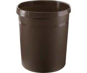 l.grau 35 cm Mülleimer rund Büro Abfallkorb HAN Papierkorb Grip 18 Liter