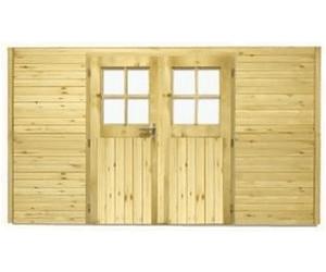 Doppeltür Holz karibu wandelement mit doppeltür carport 1 ab 429 00