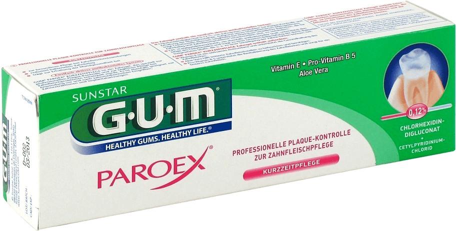 GUM Paroex Chlorhexidin Gel Zahnpasta 0.12% (75ml)